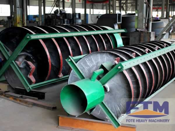 Spiral chute for tin ore, iron, gold, tungsten, zircon, chrome ore